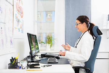 Doctor & patient in video call