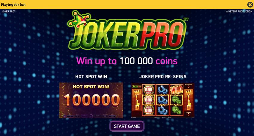 Play Joker Pro at SaferGambling