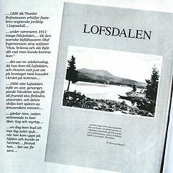 Lofsdalens första bebyggelse och gårdarna som sänktes under vattnet