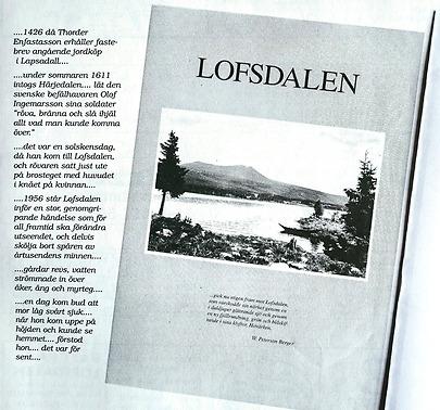 Lofsdalens första bebyggelse och gårdarna som sänktes under vattnet… – Kultur i Lofsdalen