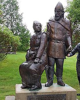 Landskapets urinvånare Härjulf Hornbrytare med hustrun Helga slog sig ner i Härjedalen på 840-talet
