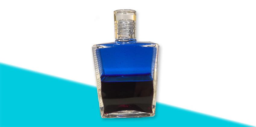 Aura-Soma-olja nr 1 – Blå/Djup magenta