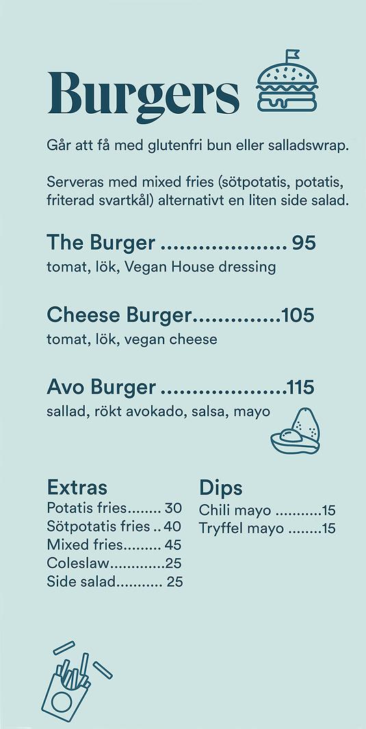 Burgers – Vegan House Menu