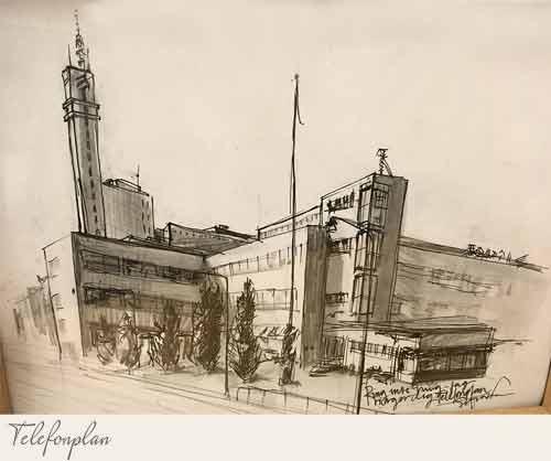 Telefonplan ritat av konstnären Sofia Wernersson