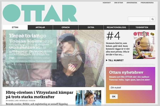 Ottar är Sveriges största sexualpolitiska tidskrift – Valenta Sales