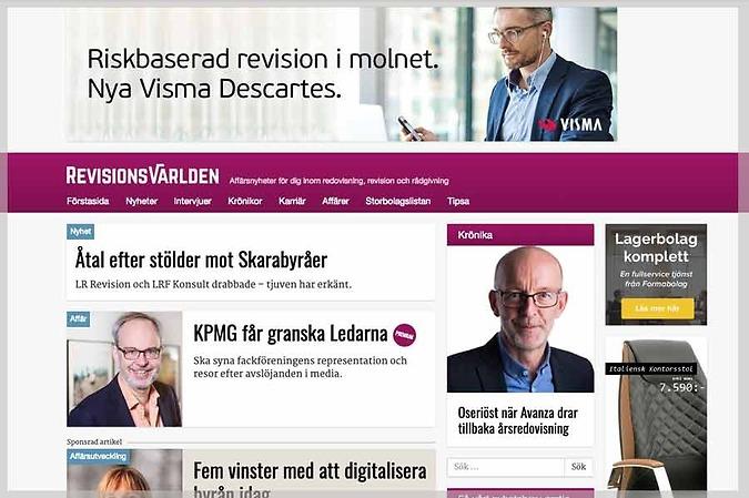 Revisionsvärlden, oberoende digital nyhetskanal, Valenta Sales